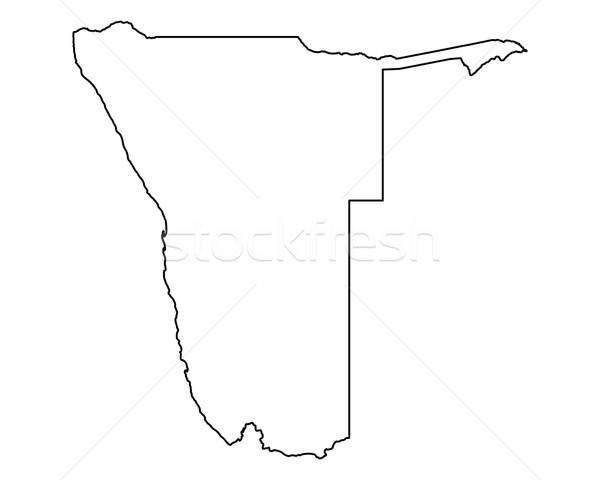 Harita Namibya arka plan yalıtılmış örnek Stok fotoğraf © rbiedermann
