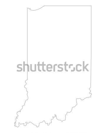 Carte Indiana fond ligne USA Photo stock © rbiedermann