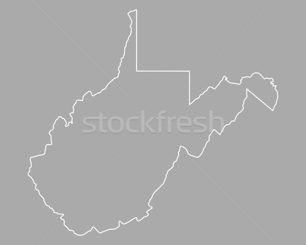 Kaart West Virginia USA vector Virginia geïsoleerd Stockfoto © rbiedermann