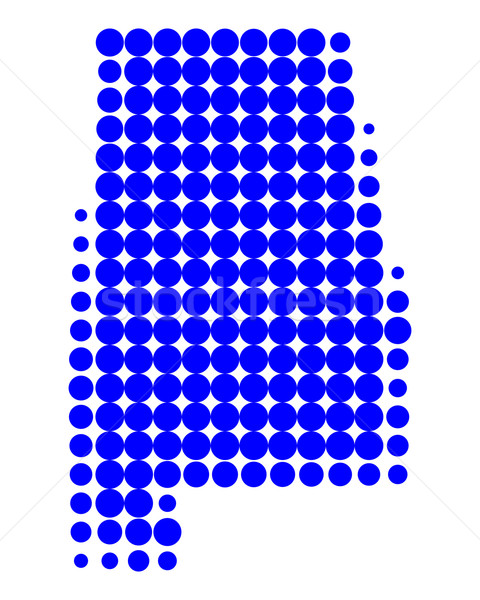 Mapa Alabama azul padrão américa círculo Foto stock © rbiedermann