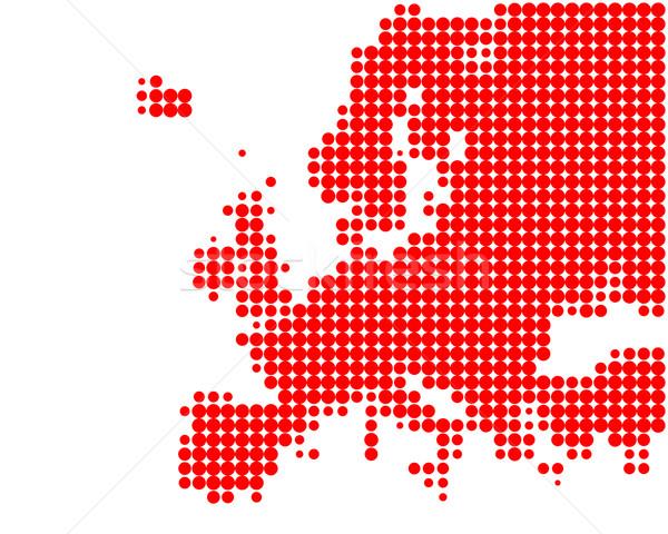 Stok fotoğraf: Harita · Avrupa · kırmızı · model · daire · nokta