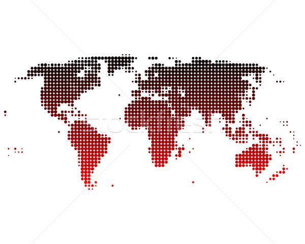 Wereldkaart kaart aarde Rood planeet patroon Stockfoto © rbiedermann