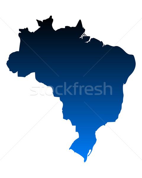 Map of Brazil Stock photo © rbiedermann