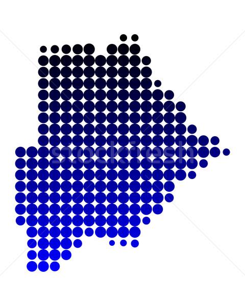 карта Ботсвана фон шаблон круга точки Сток-фото © rbiedermann