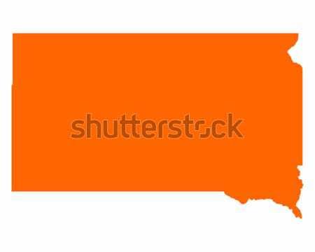 Térkép Dél-Dakota utazás Amerika USA izolált Stock fotó © rbiedermann