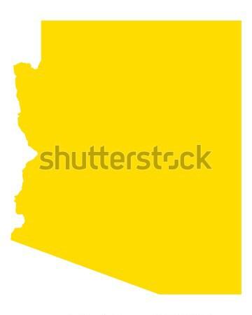 地図 アリゾナ州 旅行 アメリカ 米国 孤立した ストックフォト © rbiedermann