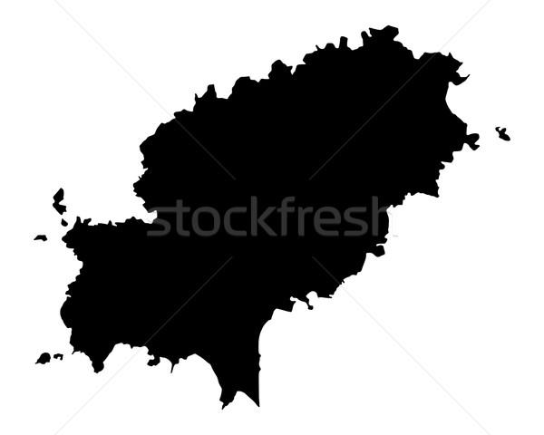 Stok fotoğraf: Harita · siyah · ada · vektör · yalıtılmış · örnek