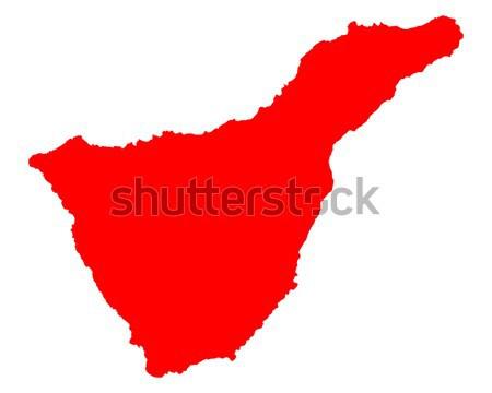Map of Tenerife Stock photo © rbiedermann