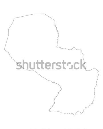 Map of Paraguay Stock photo © rbiedermann