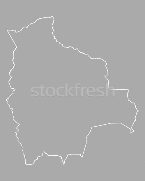 地図 ボリビア 背景 孤立した 実例 ストックフォト © rbiedermann
