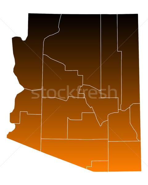 Kaart usa vector geïsoleerd illustratie bruin Stockfoto © rbiedermann