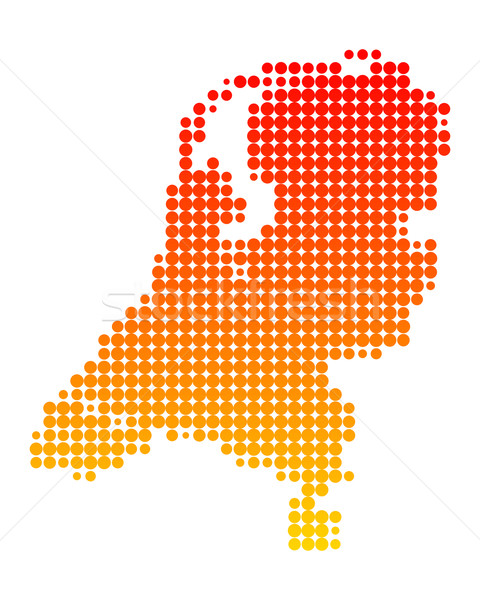 Map of the Netherlands Stock photo © rbiedermann