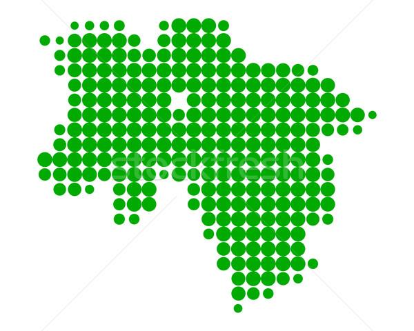 ストックフォト: 地図 · 緑 · パターン · サークル · ポイント