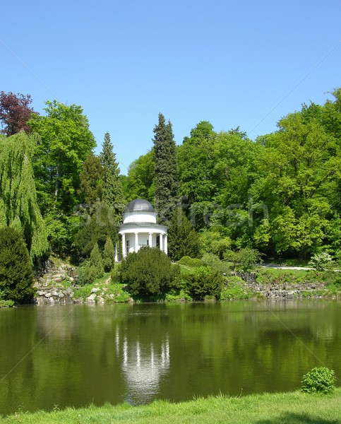 Ancient pavilion in a magnificent park scenery Stock photo © rbiedermann