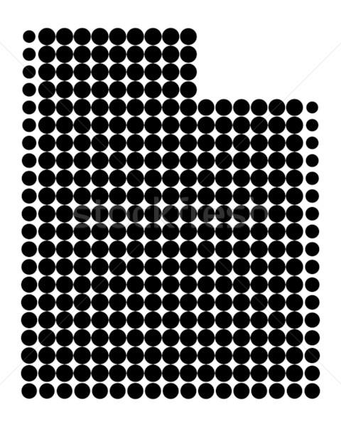Mapa Utah negro patrón América círculo Foto stock © rbiedermann