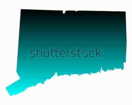 Carte Oklahoma vert bleu Voyage Amérique Photo stock © rbiedermann