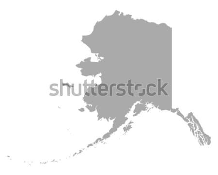 Mappa Alaska viaggio america USA isolato Foto d'archivio © rbiedermann
