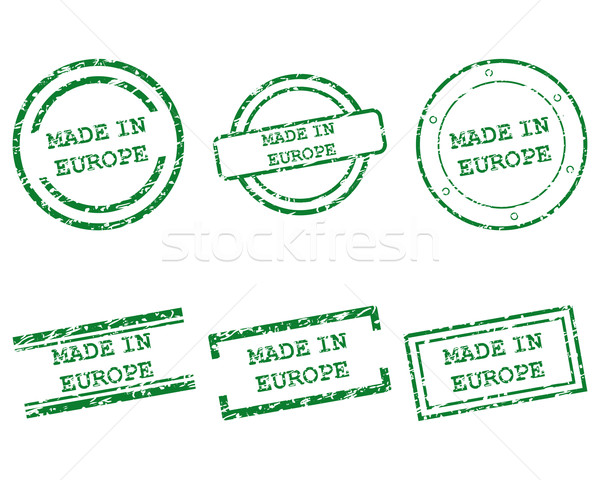 Made in Europe stamps Stock photo © rbiedermann