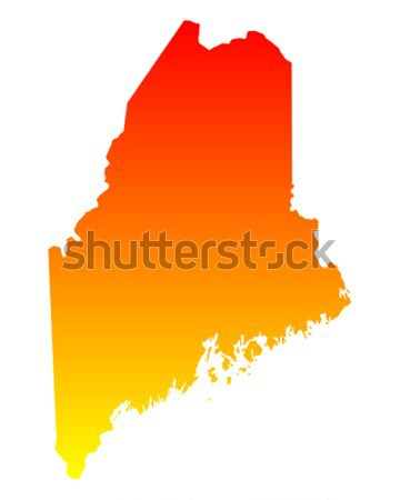 Harita Maine seyahat Amerika ABD yalıtılmış Stok fotoğraf © rbiedermann