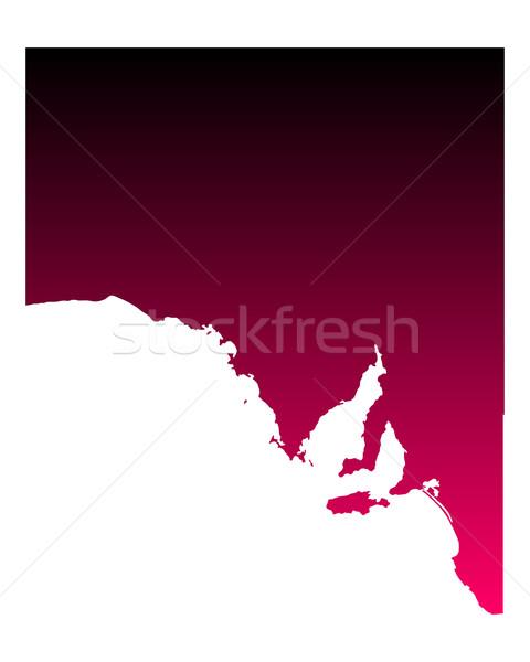 Сток-фото: карта · Южная · Австралия · путешествия · розовый · Purple · Австралия