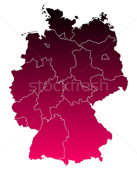 ストックフォト: 地図 · ドイツ · 行 · 紫色 · ベクトル · ベルリン