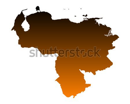 Mapa Venezuela vetor isolado ilustração Foto stock © rbiedermann