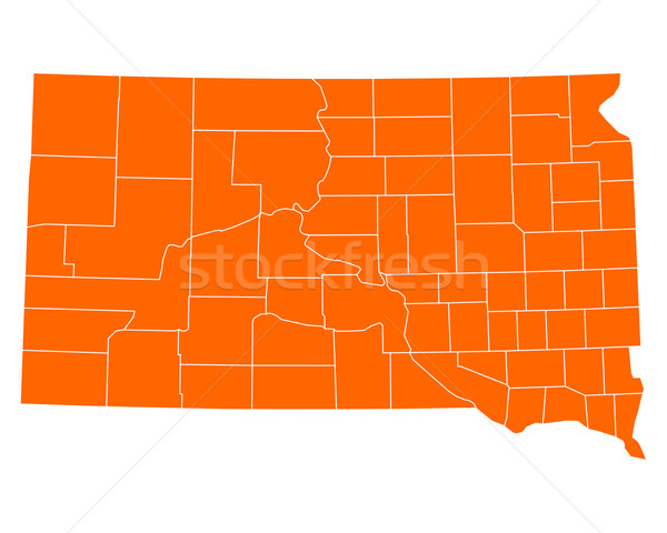 Map of South Dakota Stock photo © rbiedermann