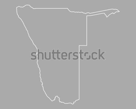 карта Намибия фон изолированный иллюстрация Сток-фото © rbiedermann
