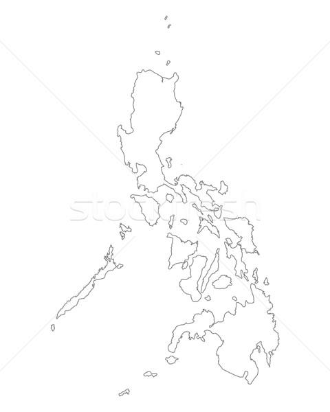 Harita Filipinler arka plan yalıtılmış örnek Stok fotoğraf © rbiedermann