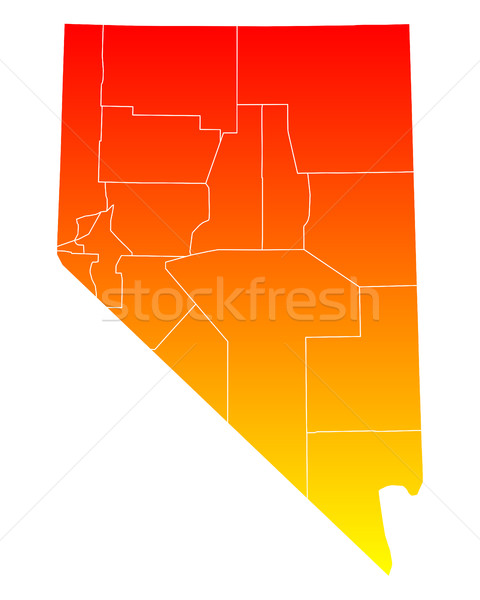 Map of Nevada Stock photo © rbiedermann