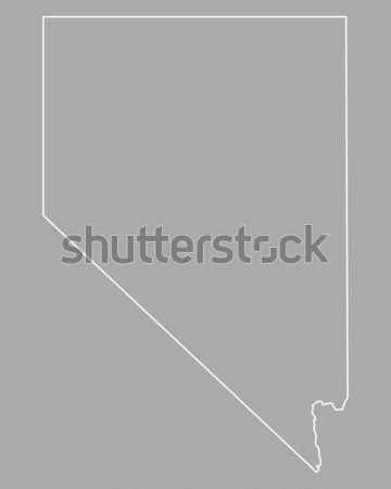 Harita Nevada hat ABD vektör yalıtılmış Stok fotoğraf © rbiedermann