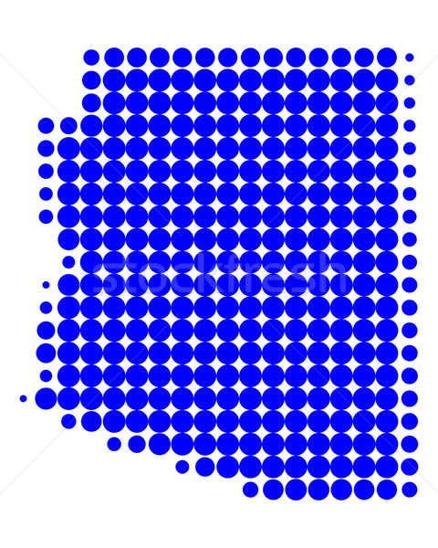 Karte Arizona blau Muster america Kreis Stock foto © rbiedermann