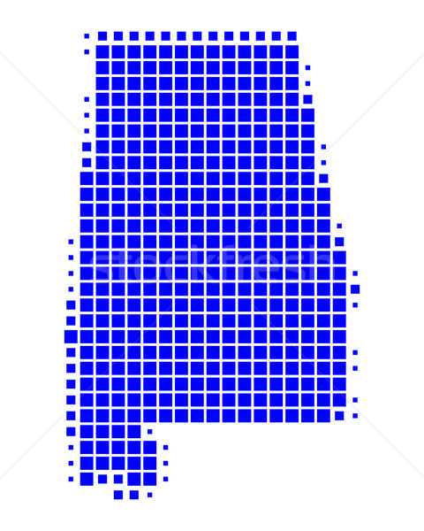 карта Алабама синий шаблон Америки квадратный Сток-фото © rbiedermann