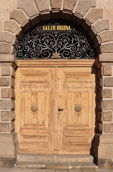 Portal of church Maria Himmelfahrt in Deggendorf, Bavaria Stock photo © rbiedermann