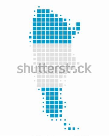 Photo stock: Carte · pavillon · Argentine · bleu · Voyage · modèle