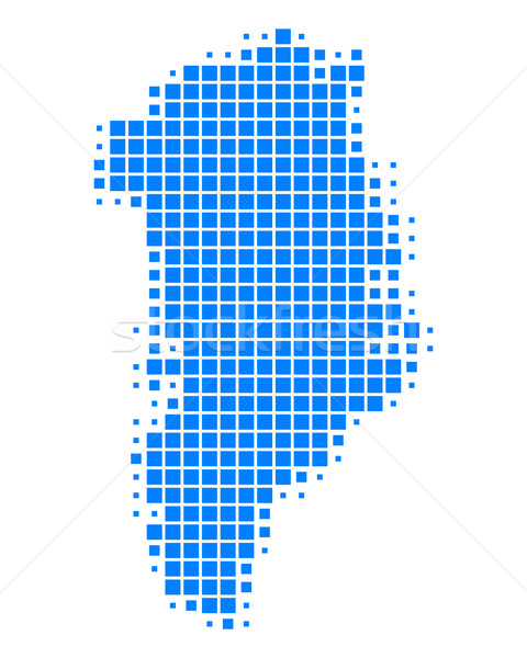Map of Greenland Stock photo © rbiedermann