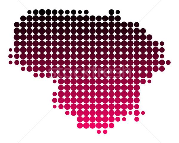 Carte Lituanie modèle pourpre cercle point Photo stock © rbiedermann