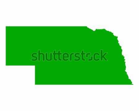 Mappa Nebraska verde viaggio america USA Foto d'archivio © rbiedermann