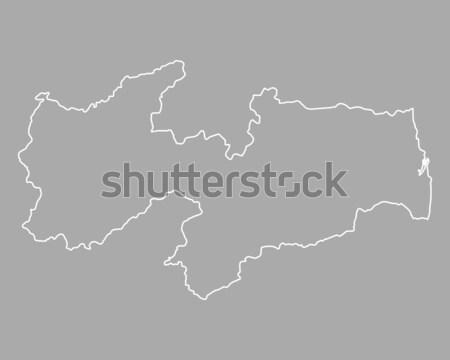 Térkép Ausztria zászló Bécs szalag vektor Stock fotó © rbiedermann