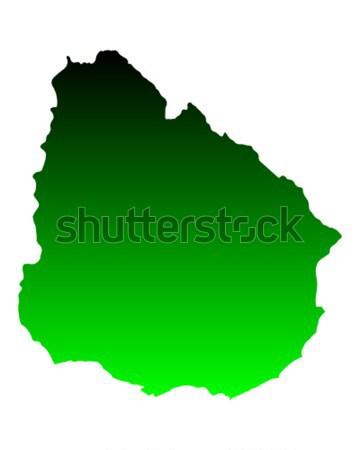 地図 セネガル 緑 旅行 ベクトル ストックフォト © rbiedermann