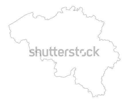地図 ベルギー 背景 孤立した 実例 ストックフォト © rbiedermann