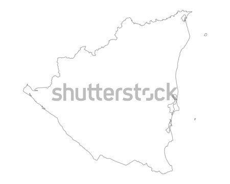Térkép Nicaragua háttér izolált illusztráció Stock fotó © rbiedermann