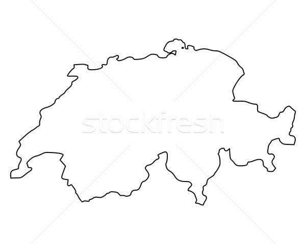 карта Швейцария фон изолированный иллюстрация Сток-фото © rbiedermann
