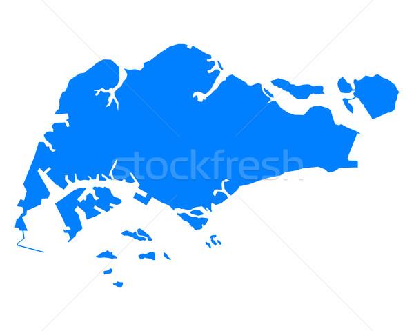 地図 青 ベクトル 孤立した 実例 地理 ストックフォト © rbiedermann