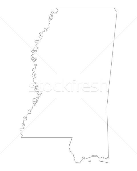 Harita Mississipi arka plan hat ABD Stok fotoğraf © rbiedermann