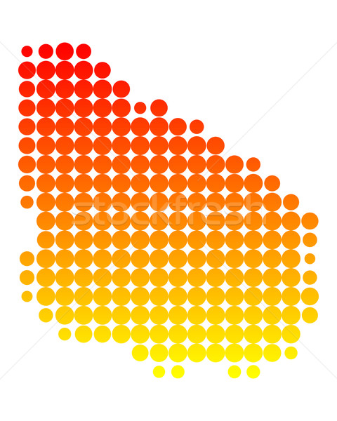 Mapa Uruguai padrão círculo ponto vetor Foto stock © rbiedermann