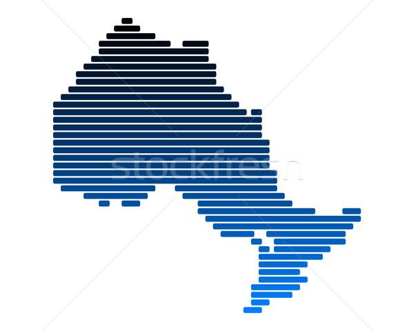 Mappa ontario blu line linee punto Foto d'archivio © rbiedermann