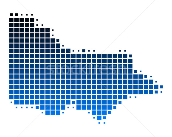 Térkép kék utazás minta tér illusztráció Stock fotó © rbiedermann