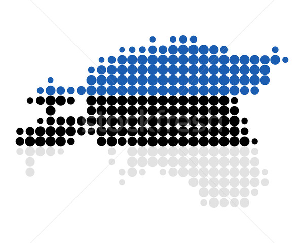 Mapa bandeira Estônia fundo viajar círculo Foto stock © rbiedermann