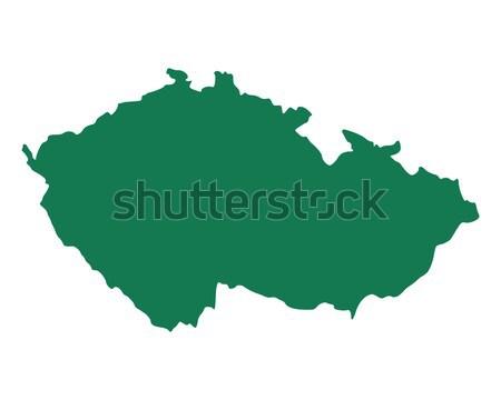 商业照片: 地图 · 捷克共和国 · 绿色 · 向量 · 孤立 · 插图